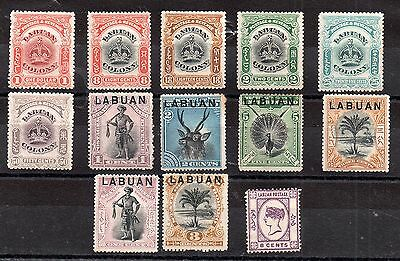 Labuan early mint MH unchecked collection x 13V WS2590