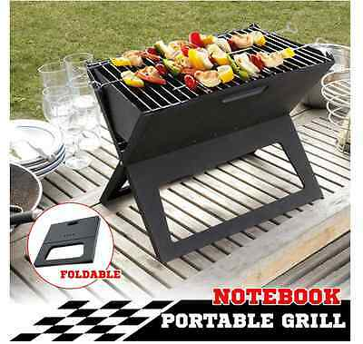 New Portable Outdoor Camping Picnic Charcoal Notebook Grill BBQ Foldable Folding