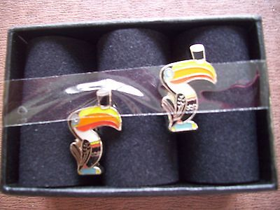 Genuine Guinness Toucan Cufflinks. New And Boxed