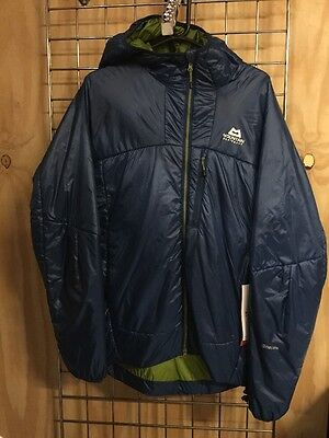 Men's Mountain Equipment Compressor Hooded Jacket, Size L, RRP £140, Blue