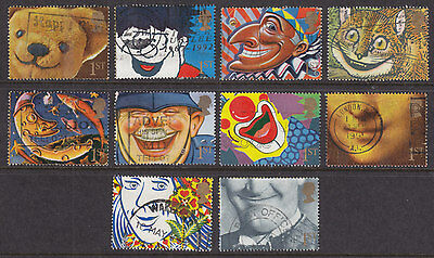 1991 Smiles Greetings Stamps Set Of 10 Sg1550/1559 Used