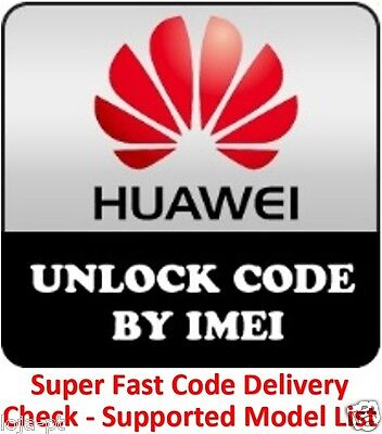 Unlock Code For Huawei Ascend Y511 F316 F361 G3621 G5520 G5521 Fast Any Carrier