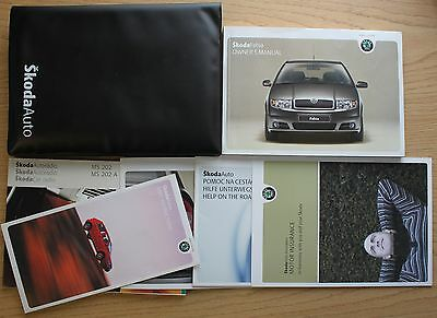 Skoda Fabia Handbook Owners Manual Wallet 1999-2007 Pack 9807