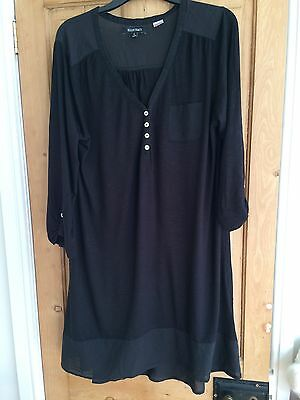 Black Loose Cotton Nightie Large Maternity? Button Front