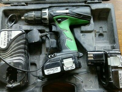 Hitachi DV18DCL2 18v Combi drill, battery, Charger and case