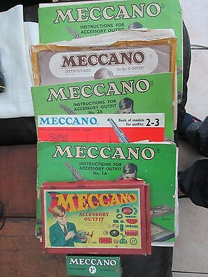 Vintage Meccano parts lists and boxes .