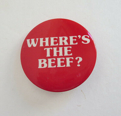 "Wendy's ""Where's the Beef"" Promotional Button"