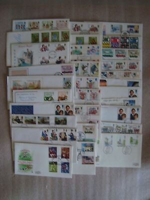 Large Collection GB First Day Covers 1980's