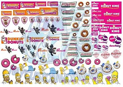 Delicious Donut Decal Pack - Waterslide Decals for Hot Wheels & Model Cars