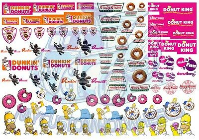 Homer Simpson's Delicious Donut Decal Pack | Decals for all scale model cars.