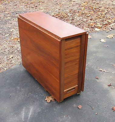 Danish Modern Stow Away Drop Leaf Table and Chairs Apartment Size Vintage