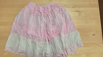 Monsoon Skirt - Age 4-6 - Pink and White - Very Full & Pretty