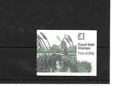 GB 1989 Mills #1 Folded £1 Booklet - FH 18