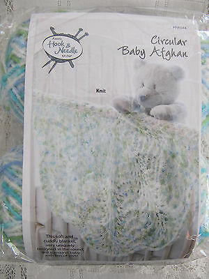 Annie's Attic Hook & Needle Circular Baby Afghan Crochet Knit Kit HNK044 -- NIP