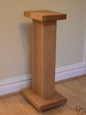 Solid Oak Wood speaker stands RC60 Deluxe, Custom Audio Visual Furniture