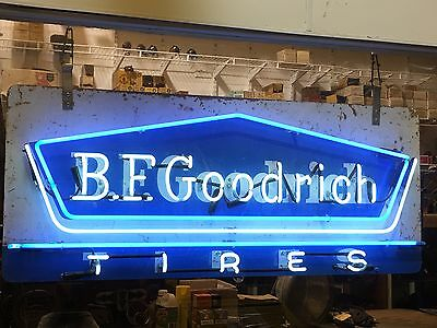 NEON VinTaGe BF GOODRICH TIRE Sign Gas OiL OLD Shop Mancave Station Car Repair