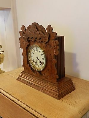 Ansonia Oak Cased Antique Mantle Clock