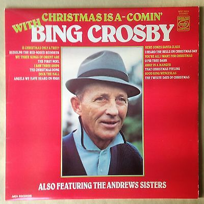 BING CROSBY Christmas is A-Comin' - 1970s UK VINYL LP RECORD VGC MFP 50314