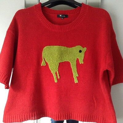 Cutie red quirky Christmas jumper Size M/L 14/16