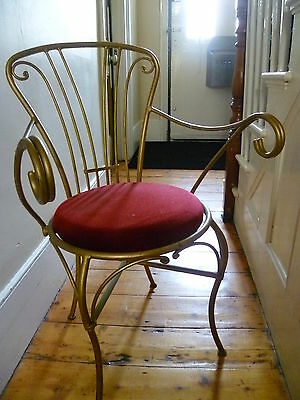 Stunning French Vintage Curvy Wrought Iron Chair. Circa 1930's - based in SE15