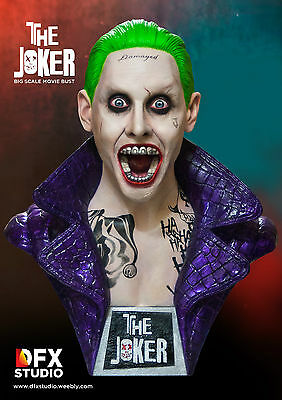 Suicide Squad The Joker Jared Leto 1/2 scale movie bust raw cast