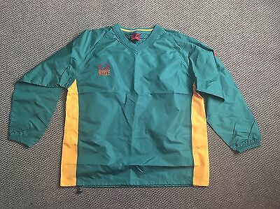 Raging Bull Rugby waterproof jacket Size XXL, Green and Yellow