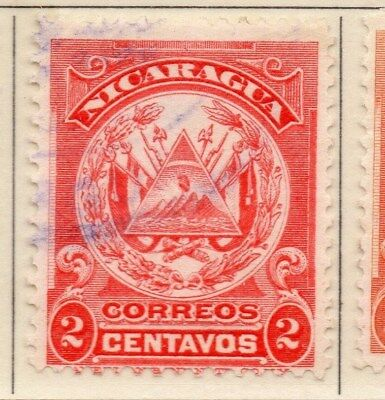 Nicaragua 1909 Early Issue Fine Used 2c. 110917