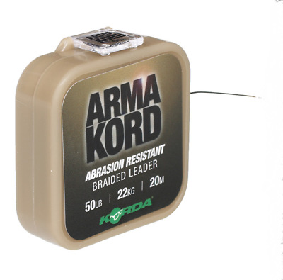 Korda NEW Carp Fishing Arma Kord 50lb Braided Braided Snag Leader - ARMK50