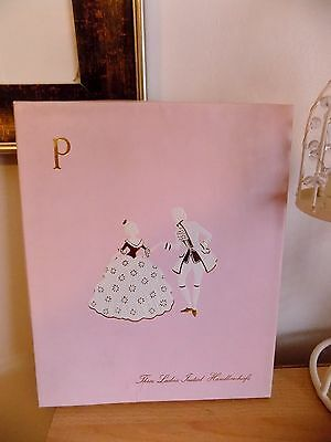 Vintage Three Ladies Embroidered Initial Handkerchiefs **p** Boxed