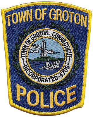 B8 * Htf Groton Public Safety Connecticut Ct Police Patch Dps Fbi Swat 1705 *