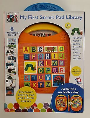 NEW Eric Carle Electronic My First Smart Pad Library w/ 8 interactive books
