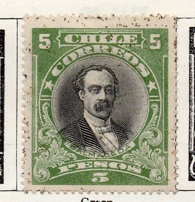 Chile 1911 Early Issue Fine Mint Hinged 5P. 098071