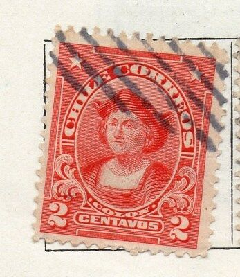 Chile 1911 Early Issue Fine Used 2c. 098072