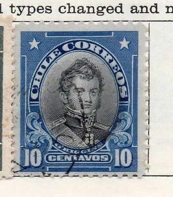 Chile 1911 Early Issue Fine Used 10c. 098075