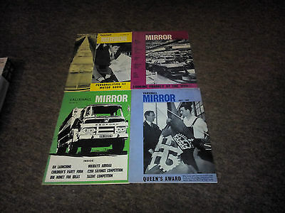 4 X Issues Of Vauxhall Mirror From 1966