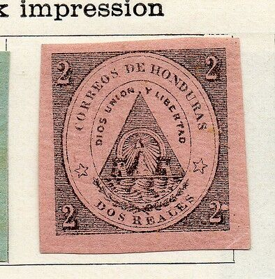 Honduras 1866 Early Issue Fine Mint Hinged 2r. Imperf 098854
