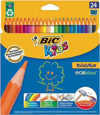 BIC KIDS Buntstifte ECOlutions Evolution, 24er Kartonetui