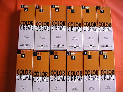 Lot de 12 tubes coloration EUGENE PERMA neuf