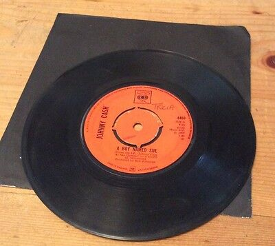 "Johnny Cash A Boy Named Sue/San Quentin 7"" UK 1969 CBS 4460 TOP Audio"