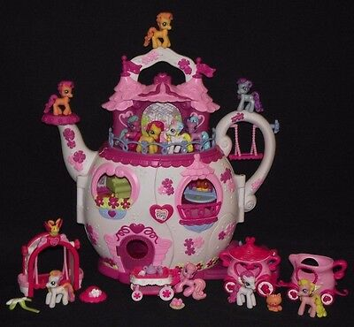 My Little Pony Ponyville Lot - Teapot Palace, Teacup Parade & More!  Rare Ponies