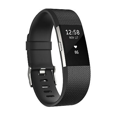Fitbit Charge 2 Black/Silver Size Large
