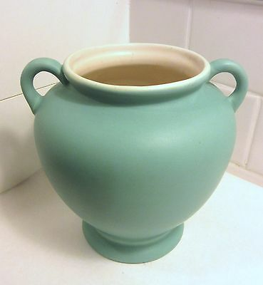 Coors Pottery Turquoise Handled Vase Pot Colorado