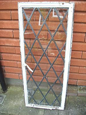 ANTIQUE WINDOWS-LOT 26- ORIGINAL 1930s SOLID CRITTALL WINDOW FRAME -51x122