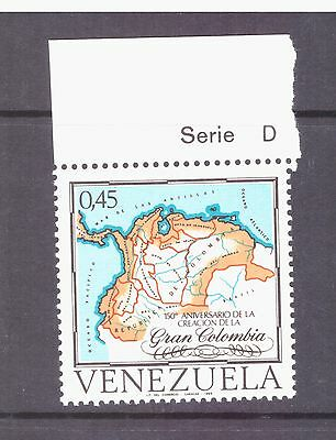 Venezuela 1969 Map Greater Colombia Federation mint MNH SG2104