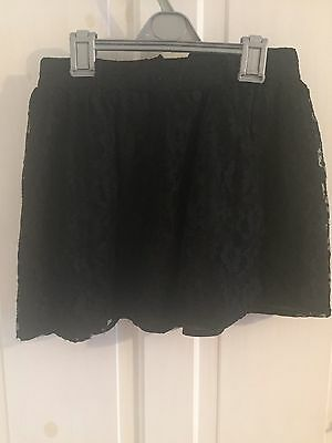 Black Lace Skirt Age 9-10 Years Party Short Mini