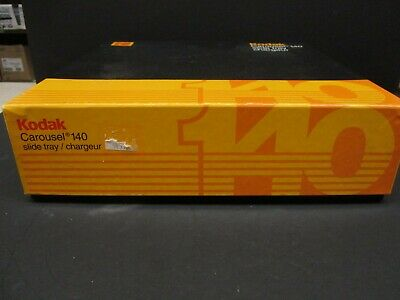 10-(ten)Kodak Carousel 80 slide trays with retainers and outer box