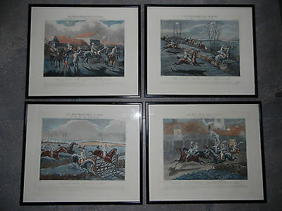 The First Steeple Chase on Record Ipswich. Alken Antique Horse Racing Engraving