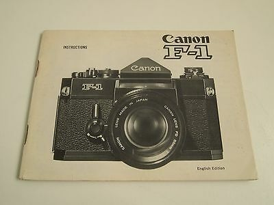 Canon F1 Camera Manual Guide Original Instruction Book