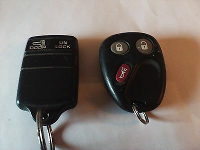 Lot of 2 GM key fob remotes 15008008 15725422 93-96 truck 02-08 suv
