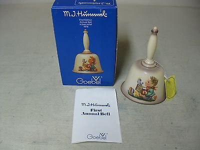 Goebel Hummel First Edition Annual Bell 1978 Bas-Relief West Germany Boxed